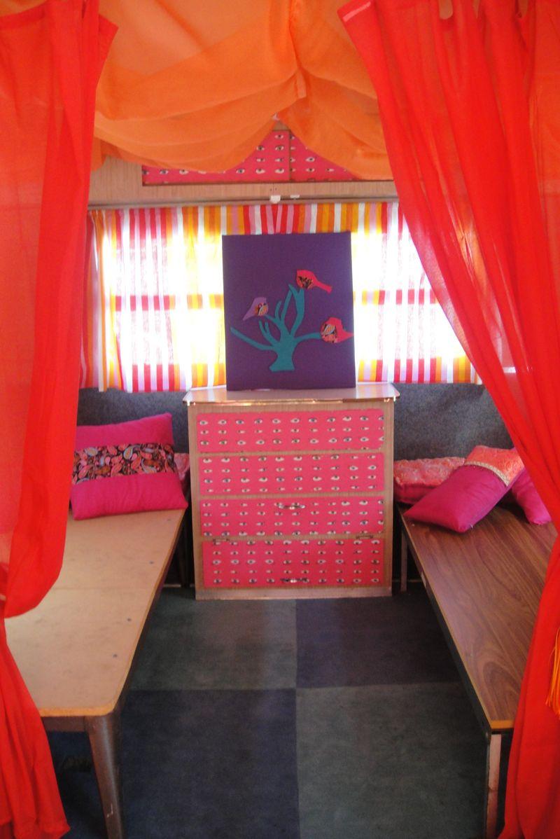 Slaapkamer pimpen caravan